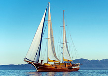 Private sailing charter holiday in Turkey