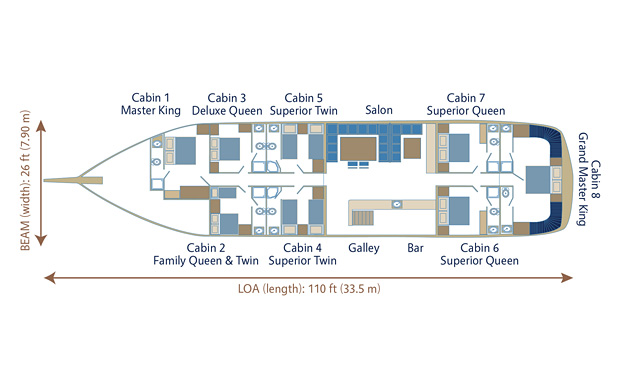 Yacht plan layout for M/S Flas VII